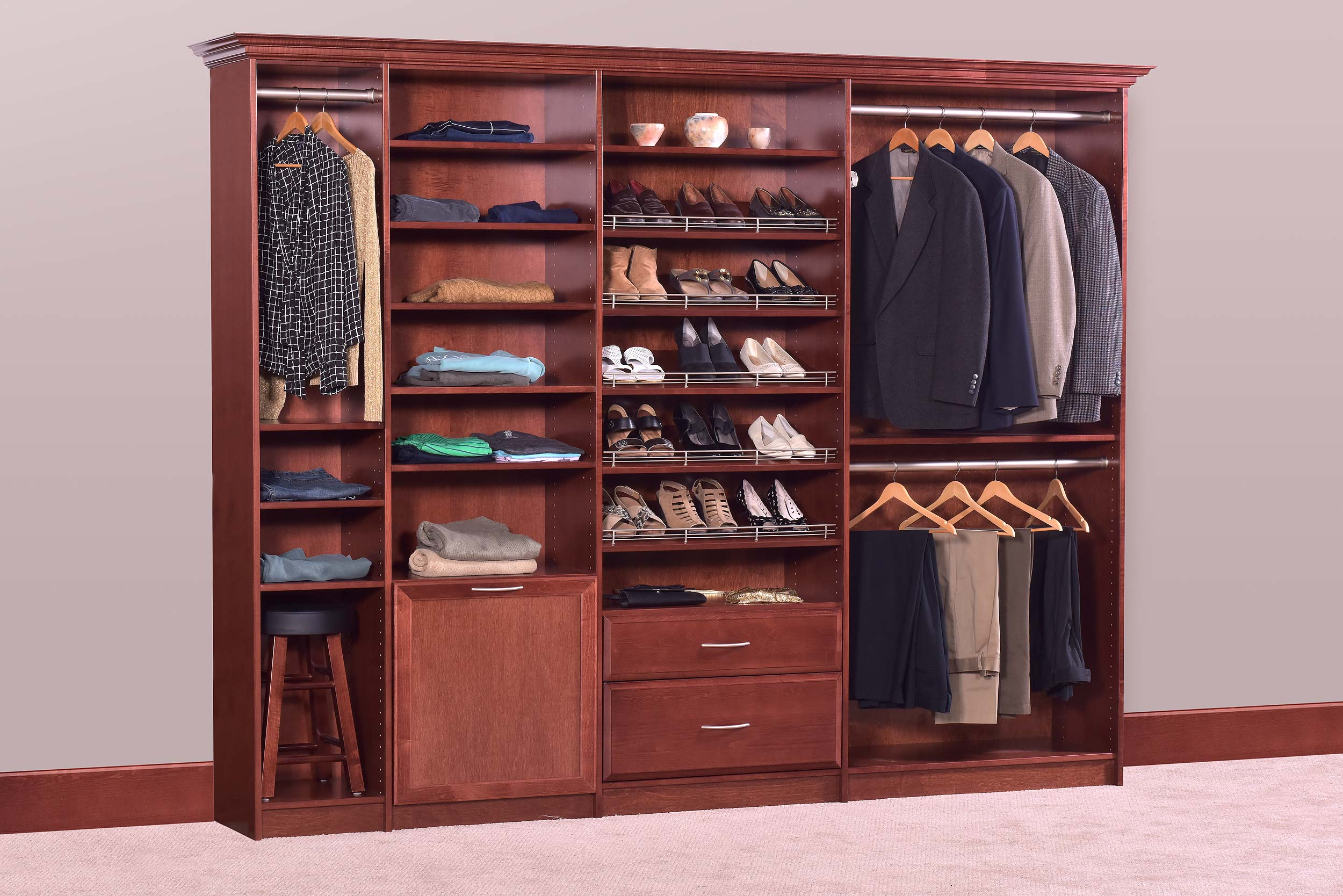 Attirant Maple Closets Wood Closet Organizers Dealer Site